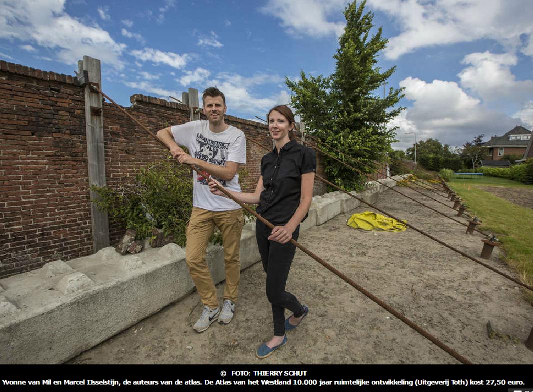 161124 Auteurs Yvonne van Mil en Marcel IJsselstijn van de Atlas van het Westland