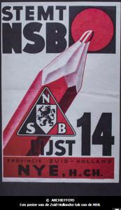 170328 Een affiche van de Zuid-Hollandse tak van de NSB