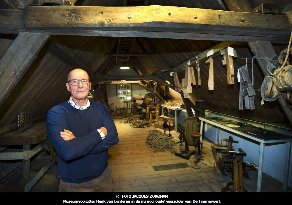 Museumvoorzitter Henk van Lenteren van De Timmerwerf