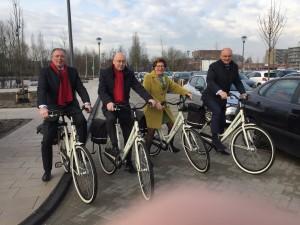 180307 Wethouders op de fiets