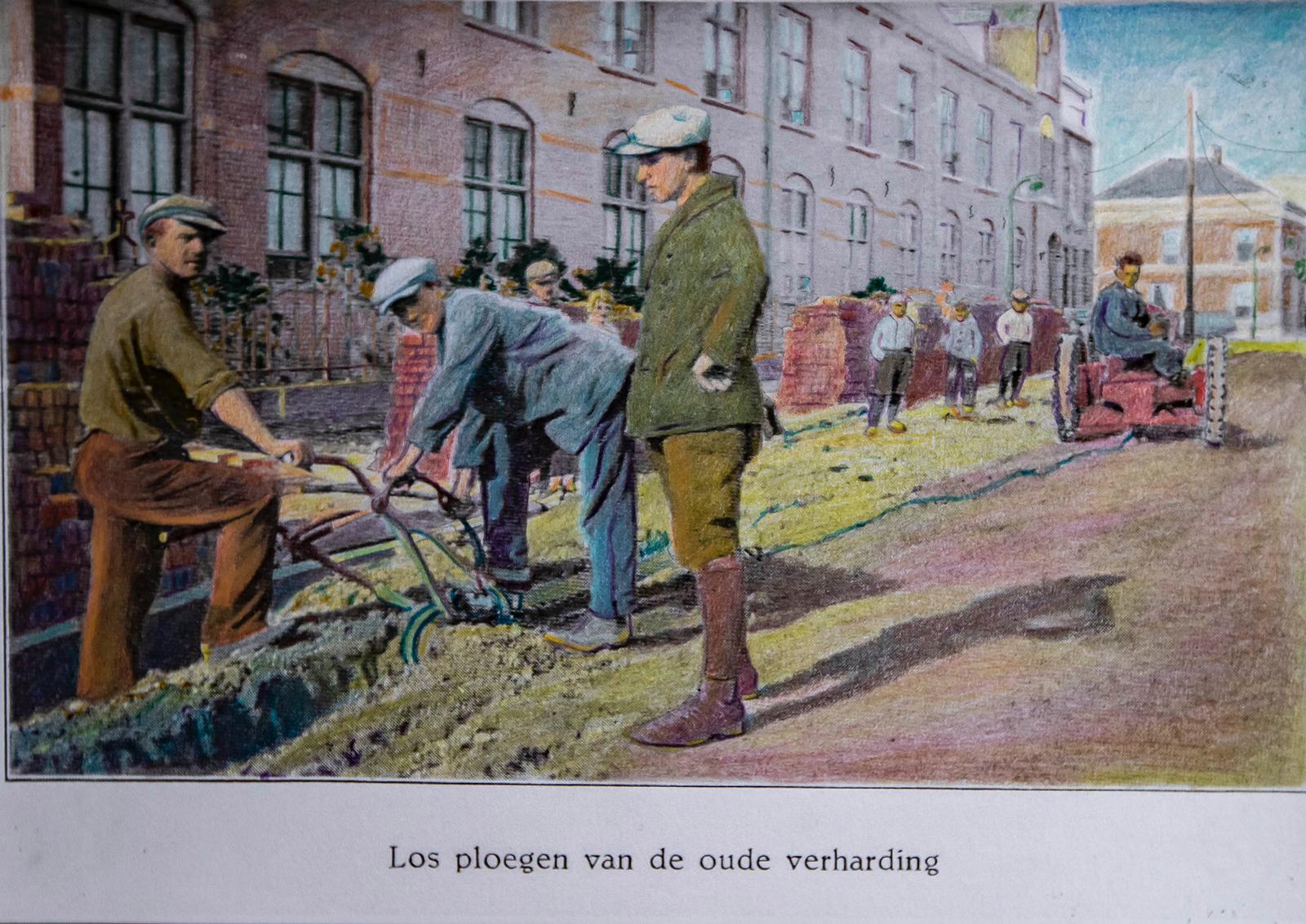 181227 Artistiek geretoucheerde foto Los ploegen oude verharding