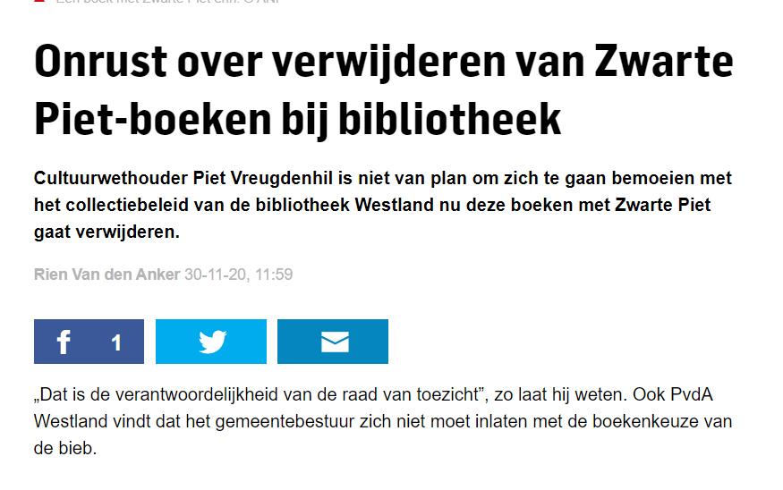 201130 Onrust over Zwarte Piet biebboeken A